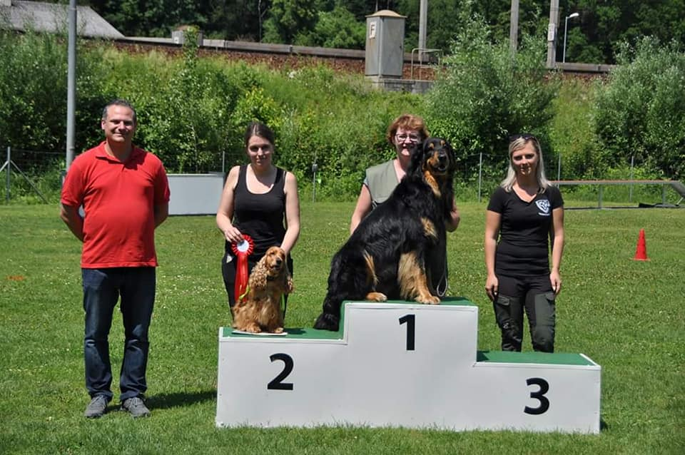 1. Platz in der Ralley Obedience Beginner